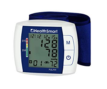 HealthSmart Premium Talking Digital Wrist Blood Pressure Monitor, Bilingual, Two-User Memory