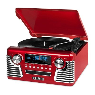 50's Retro 3-Speed Turntable with Stereo