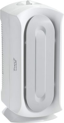 Hamilton Beach TrueAir Air Purifier, For Allergies & Pets, Odor Eliminator, Permanent HEPA Filter, Ultra Quiet, White (04384),