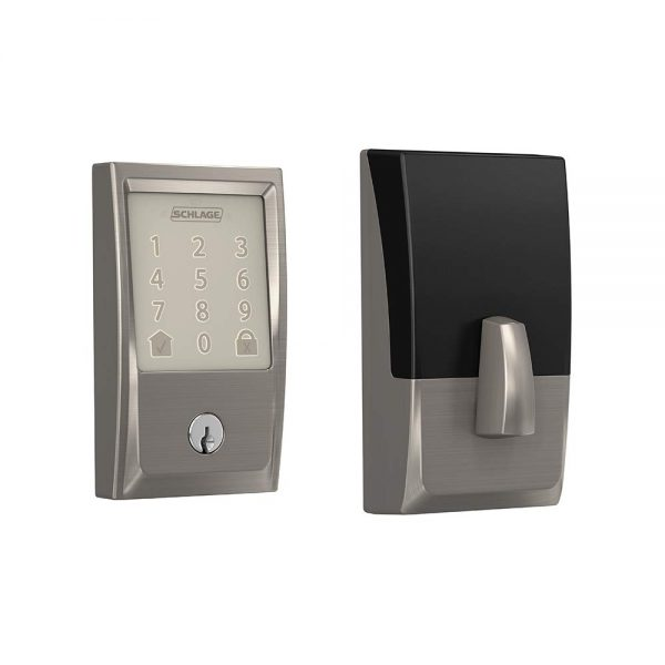 Schlage Encode Smart WiFi Deadbolt with Century Trim in Satin Nickel (BE489WB CEN 619)
