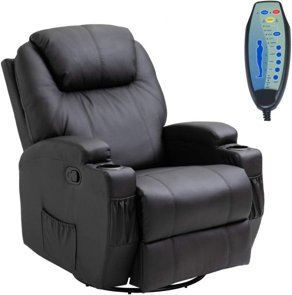 power recliner with cup holder and usb