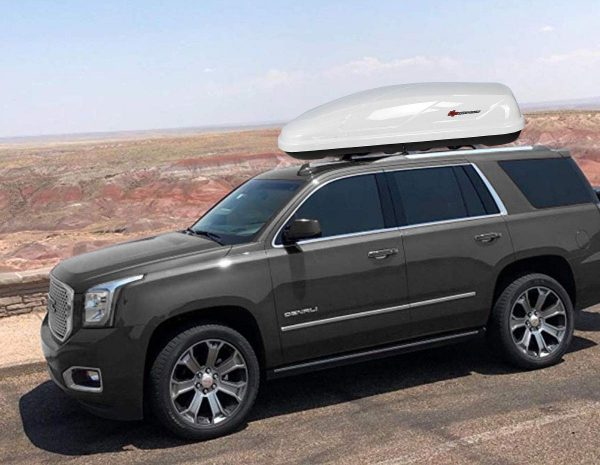 goplus cargo box waterproof rooftop cargo carrier