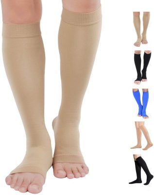 knee high zippered compression socks