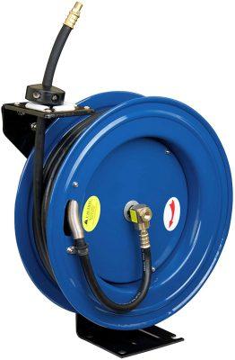 retractable breathing air hose reel