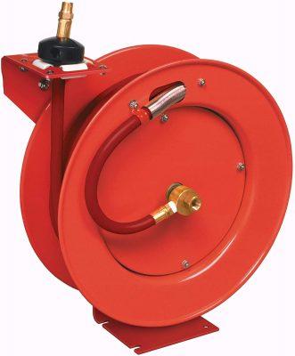 retractable air compressor hose reels
